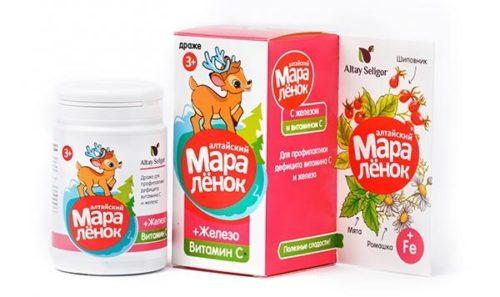 Драже «Алтайский Маралёнок» с витамином С  «Железо» 70 гр