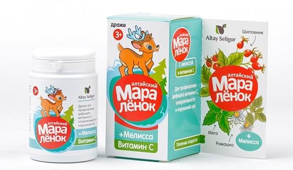 Драже «Алтайский Маралёнок» с витамином С  «Мелисса» 70 гр