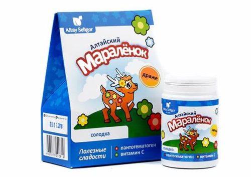 Драже «Алтайский Маралёнок» с пантогематогеном  «Солодка» 70 гр