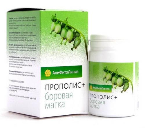Прополис+Боровая Матка 60 таблеток