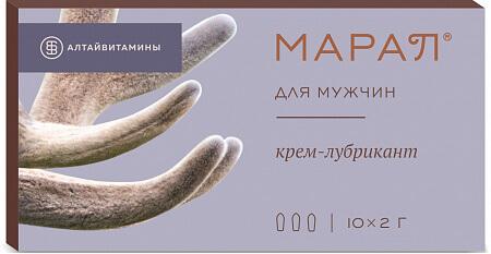 Марал Для Мужчин Крем Лубрикант 10 шт