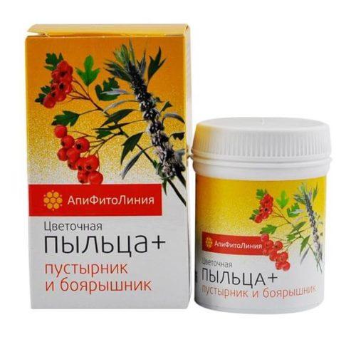 Цветочная Пыльца + Пустырник И Боярышник 60 таблеток