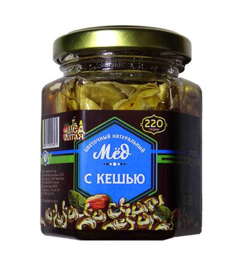 Мёд Алтайский с Кешью 220 г