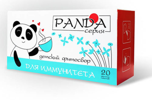 Травяной фитосбор «Для иммунитета» серия «Панда» 20 фильтр-пакетов по 1,5 гр.