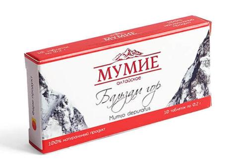 Мумиё Алтайское «Бальзам Гор» 10 капсул по 200 мг
