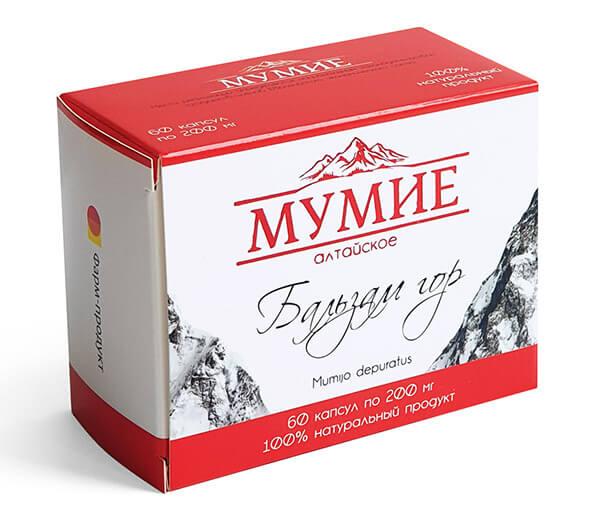 Мумиё Алтайское «Бальзам Гор» 60 капсул по 200 мг