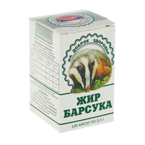 Барсучий Жир 100 Капсул
