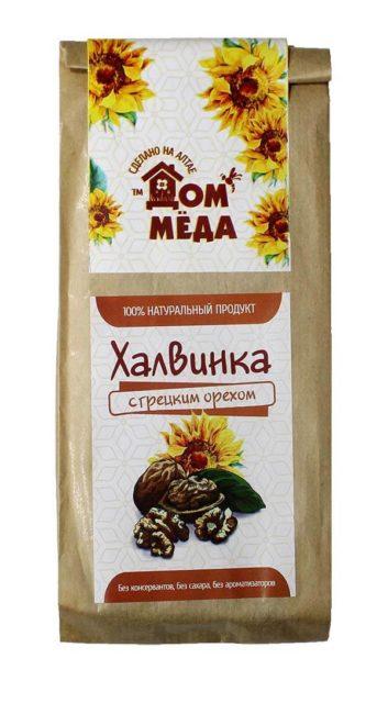 «Халвинка» Медово-подсолнечная композиция с грецким орехом 120 г