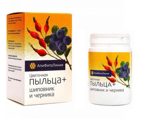 Цветочная Пыльца + Шиповник И Черника 60 таблеток