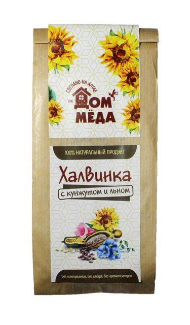 «Халвинка» Медово-подсолнечная композиция с семенем кунжута и льна 120 г