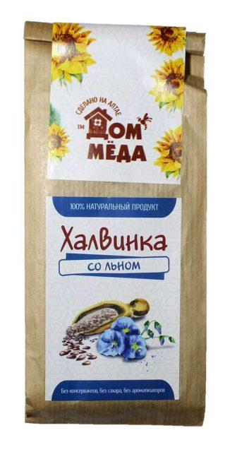 «Халвинка» Медово-подсолнечная композиция с семенем льна 120 г