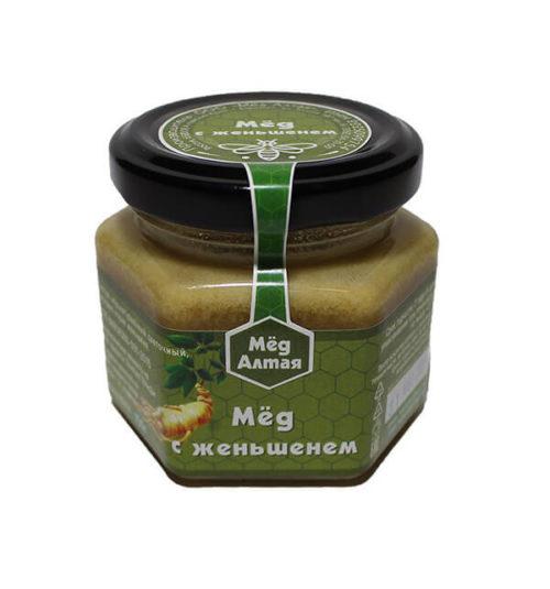 Мёд Алтайский с экстрактом Женьшеня 150 г