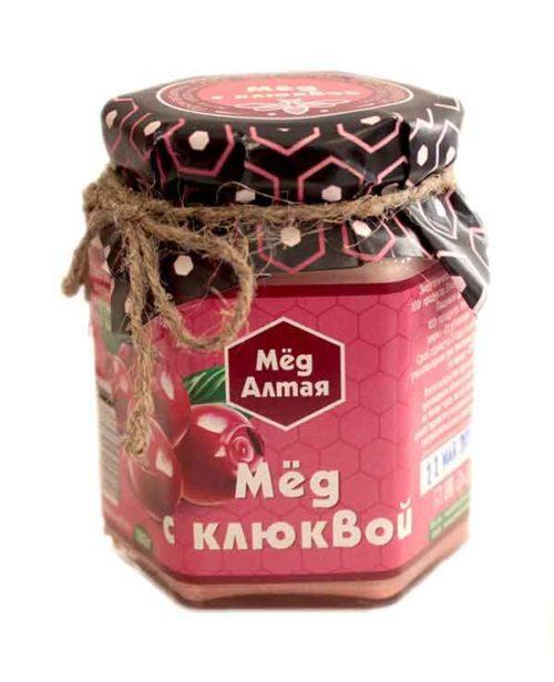 Мёд Алтайский с Клюквой 180 г