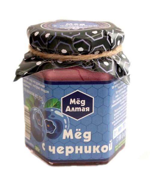 Мёд Алтайский с Черникой 180 г