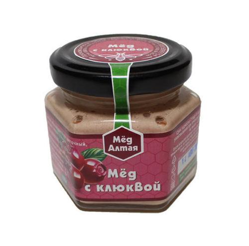 Мёд Алтайский с Клюквой 100 г