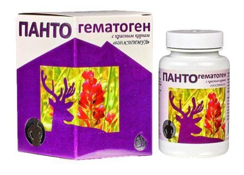 Пантогематоген С Красным Корнем  60 капсул