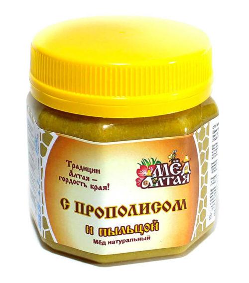 Мёд Алтайский с Пыльцой и Прополисом 260 г
