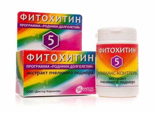 Фитохитин – 5 Климакс-Контроль (Экстракт Пчелиного Подмора) 56 капсул