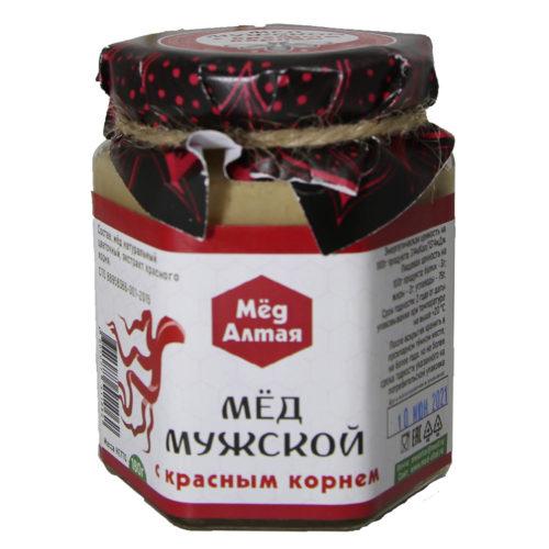 Мёд Алтайский с экстрактом Красного корня «Мужской» 180 г
