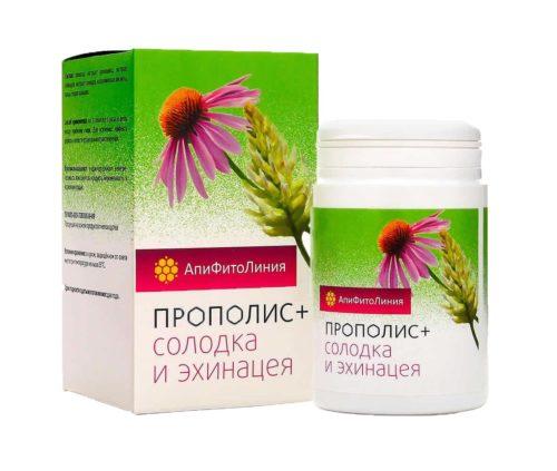 Прополис+ Солодка и Эхинацея 60 таблеток