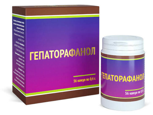 Гепаторафанол 56 капсул