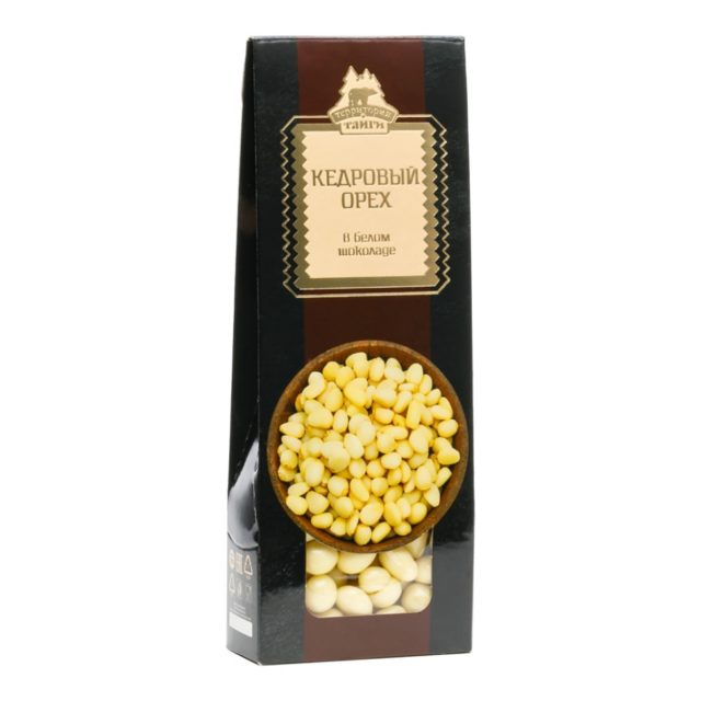 Кедровый орех в белом шоколаде драже   100 г