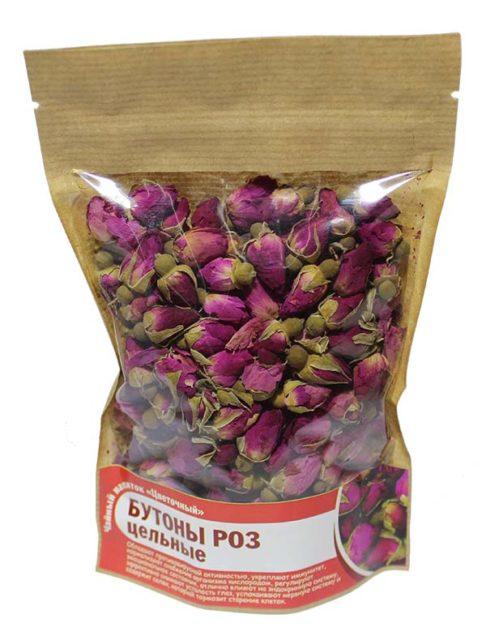 Бутоны роз цельные красные 50 гр