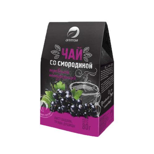 Травяной чай с черной смородиной 80 гр