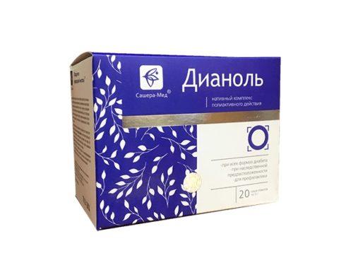 Дианоль - растительные капсулы при диабете, 20 пакетов