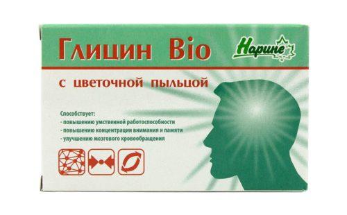Глицин Bio с цветочной пыльцой, 20 таблеток