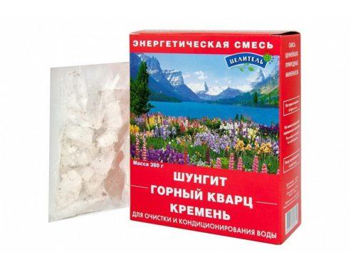 Энергетическая смесь (шунгит, горный кварц, кремень) 380 гр