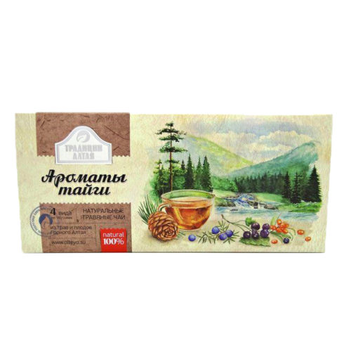 """АлтайМаг набор подарочный чая """"Ароматы тайги"""" 4 предмета"""