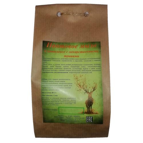 Пантовое мыло с лекарственными травами 80 гр