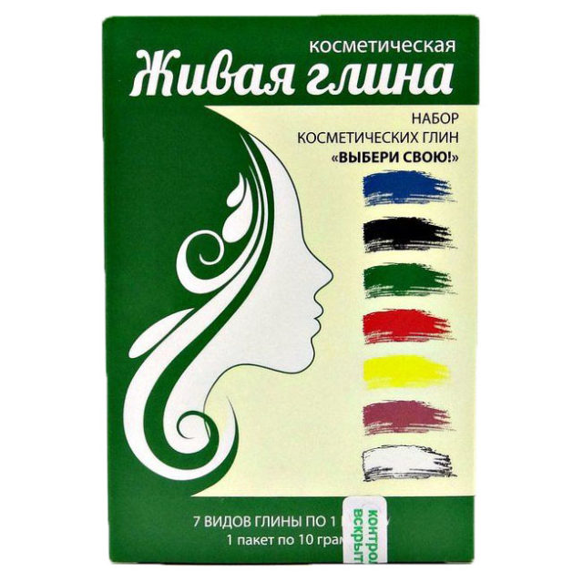 Набор косметических глин серии Ветом «Выбери свою» (7 шт по 1 пакету)
