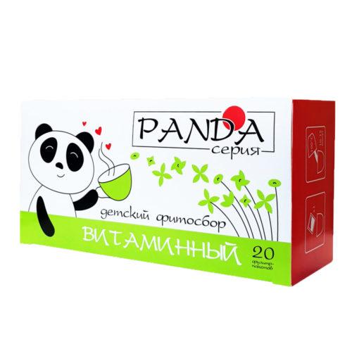 Травяной фитосбор «Витаминный» серия «Панда» 20 фильтр-пакетов по 1,5 гр.