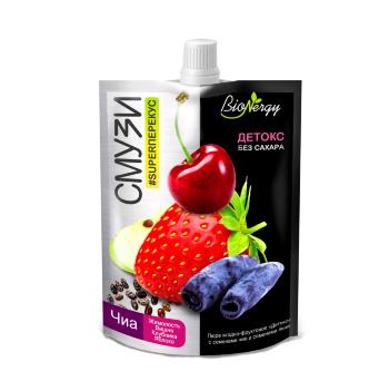 BioNergy смузи Детокс жимолость вишня клубника яблоко семена чиа 120 гр
