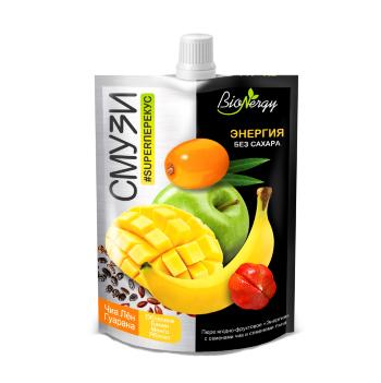 BioNergy смузи Энергия облепиха банан манго семена чиа семена льна гуарана 120 гр