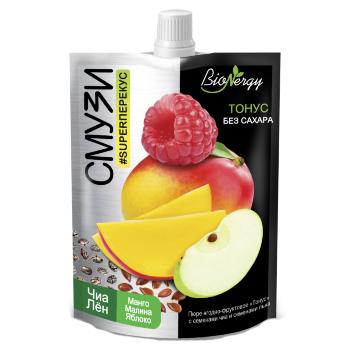 BioNergy смузи Тонус малина манго яблоко семена чиа семена льна 120 гр