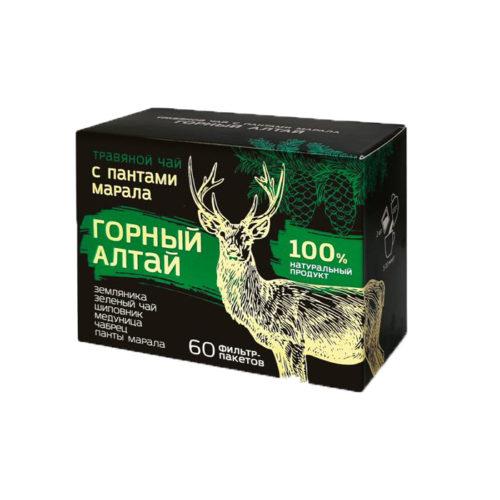"""Травяной чай с пантами алтйского марала """"Горный Алтай"""" 60 фп"""