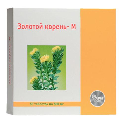 """""""Золотой корень - М"""", 500мг. (50 таблеток)"""